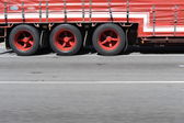 Semi Trailer Wheels — Stock Photo
