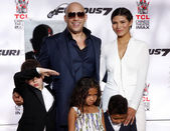 Vin Diesel and Paloma Jimenez — Stock Photo