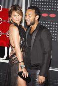 Chrissy Teigen and John Legend — Stock Photo