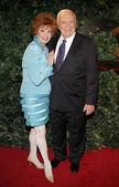 Ernest Borgnine and Tova Traesnaes — Stock Photo