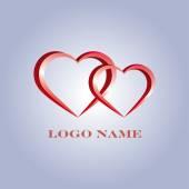 Hearts logo — Stock Vector