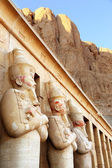 Close up view of Ancient columns of Hatshepsut Temple in Egypt — Stock Photo