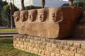 Starověké egyptské sochy v Egyptském muzeu v Káhiře — Stock fotografie