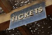 Señalización de la oficina de boletos — Foto de Stock