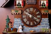 Cuckoo clock with birdie — Stock Photo