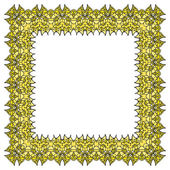 Yellow vector frame — Stock Vector