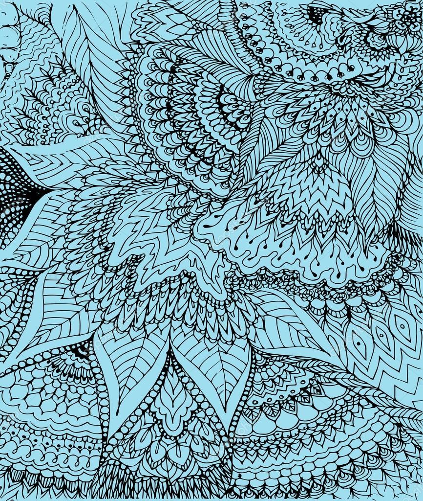 Ilustraci n de vector de la doodle dibujo sobre el fondo for Imagenes de cuadros abstractos con texturas