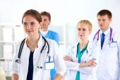 A team of young doctors in the office — Stock Photo