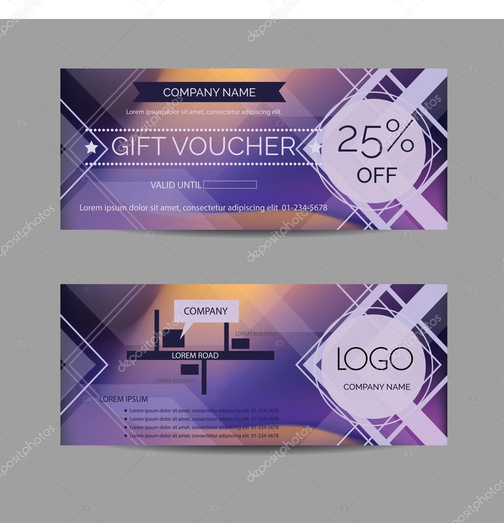 Modern discount voucher design template Vector – Discount Voucher Design