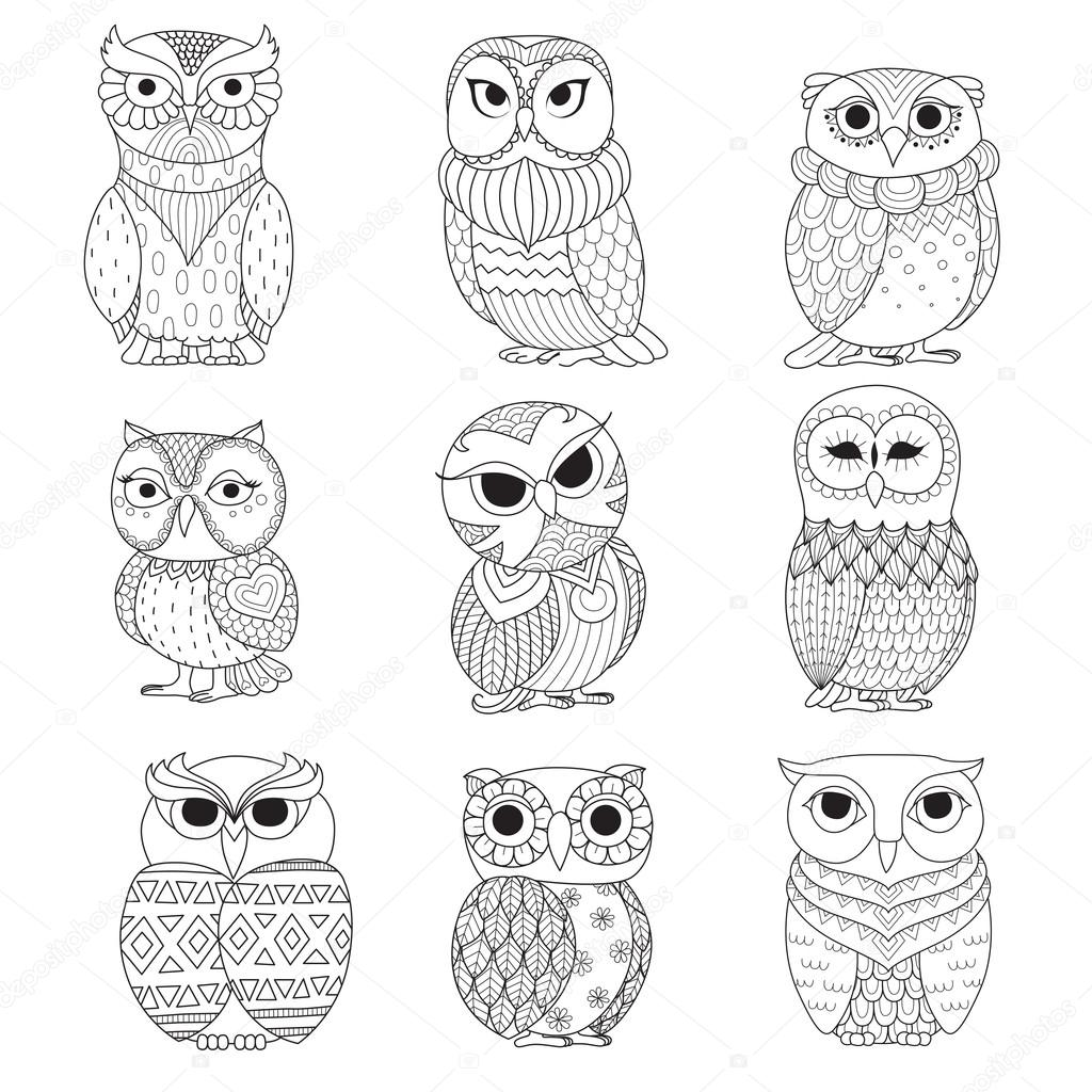 Owl Easy Coloring Pages