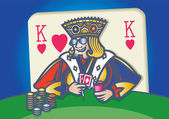 Poker king — Stock Vector