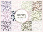 パステルの穏やかなトーンの幾何学的なパターンのセットです。シームレスなパターン、背景、テクスチャ。ベクター飾り。装飾タイル. — ストックベクタ