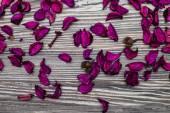 Sfondo di legno con Rose — Foto Stock