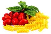 San Marzano tomater och pasta — Stockfoto
