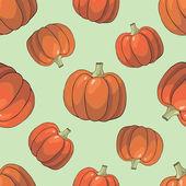 Pumpkin Background seamless pattern — Stock Vector