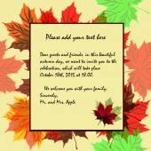 Inbjudan till temat för hösten och höstens semester i rika co — Stockvektor