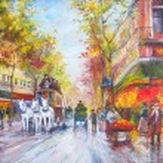 Original oil painting Paris — Stock Photo #78415748