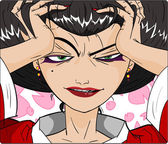 Sensual Geisha — Stock Vector