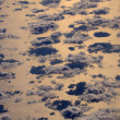 Close aerial view of the cumulus coulds — Stock Photo #78542626