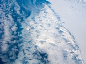 Aerial view of the Greenland coastline — Stock Photo