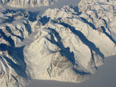 Aerial view of the Greenland mountains — Stock Photo