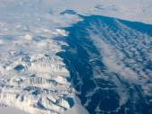 Aerial view of the Greenland gulf — Stock Photo