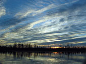 Sky waves during sunset — Stock Photo
