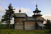Ancient wooden christian church on a hill — Stock Photo