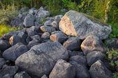 Huge boulders on a south Karelian island — Stock Photo