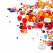 Colorful Beads Decoration  isolated on white background — Stock Photo #79081434