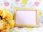 Beautiful flower decoration and free space for space for writing — Stock Photo