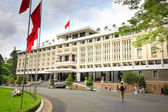 Hochiminh City, Vietnam - July 8, 2015: Reunification Palace, Ngo Viet Thu By architect, circa 1966. It was used as headquarters by the South Vietnamese Vietnam War the cabinet. After April 30, 1975 is known as Reunification Palace — Stock Photo