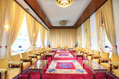 Hochiminh City, Vietnam - July 8, 2015: Reception room at the Reunification Palace, Ngo Viet Thu By architect, circa 1966. It was used as headquarters by the South Vietnamese Vietnam War the cabinet. — Stock Photo