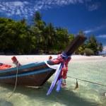 Beautiful boat on the beach — Stock Photo #78354948