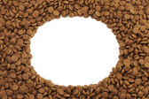 Oval or circular frame of pet (dog or cat) food for background use — Stock Photo