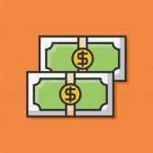 Icono de línea de color efectivo — Vector de stock