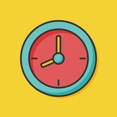 Clock color line icon — Stock Vector