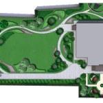 Landscaping Master Plan, 2D Sketch — Stock Photo #78711420