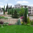 Постер, плакат: Terraced landscaping integrated into the natural environment