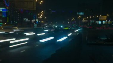 Moscow traffic at Night 2 — Stock Video