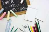 Back to school slate — Stock Photo