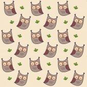 Owl pattern — Stock Vector