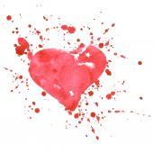 泼墨的心 — 图库矢量图片