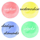 Vector watercolor background. Abstract painting. Circles. — Stock Vector