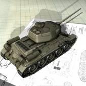 T34-85 scale model — Stock Photo
