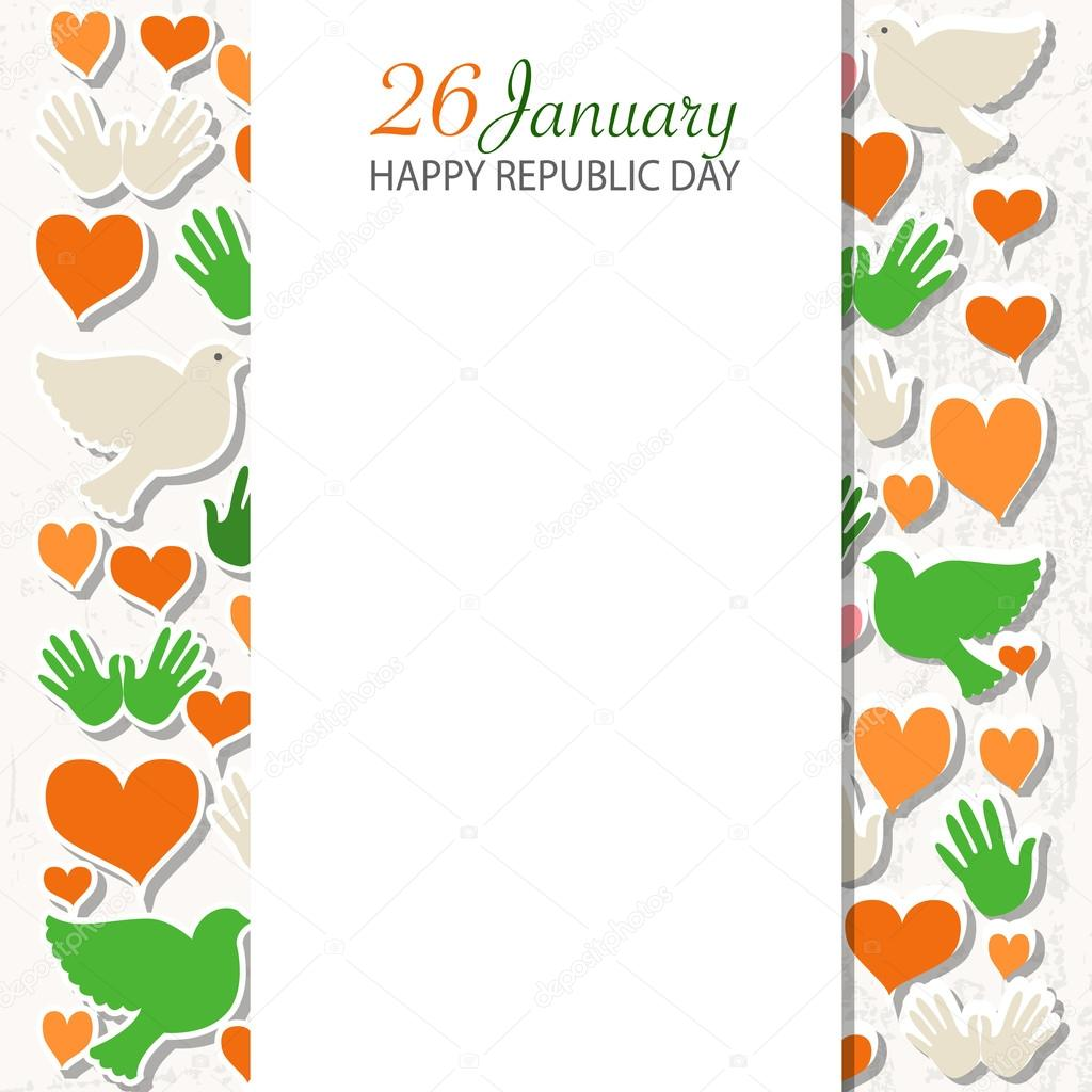Design banner in publisher - Happy Republic Day India Templates For Postcard Invitation Card