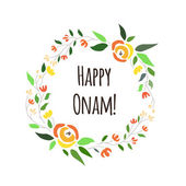 Vector illustration of card deducted to Onam. — Stock Vector