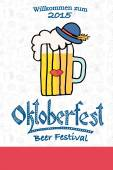 Vector illustration of hipster Oktoberfest logotype — Wektor stockowy
