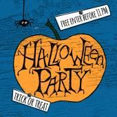 Happy Halloween Party Poster. Vector illustration. — Stock Vector