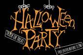 Happy halloween party affisch. Vektor illustration. — Stockvektor
